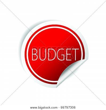 Budget Sticker Red Vector