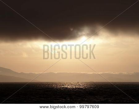 Dramatic San Francisco Bay Landscape Dark And Light