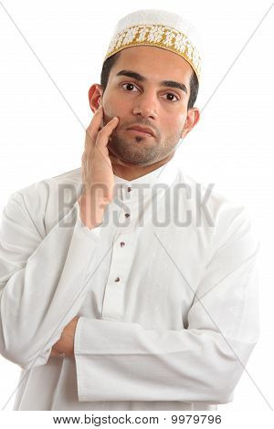 Arab Man Thinking