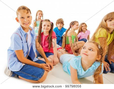 Funny 8 year old kids hang out