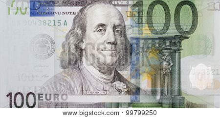 Hundred Dollars And The Euro As A Symbol Of Interdependencies In The Economy