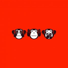 stock photo of evil  - See no evil - JPG