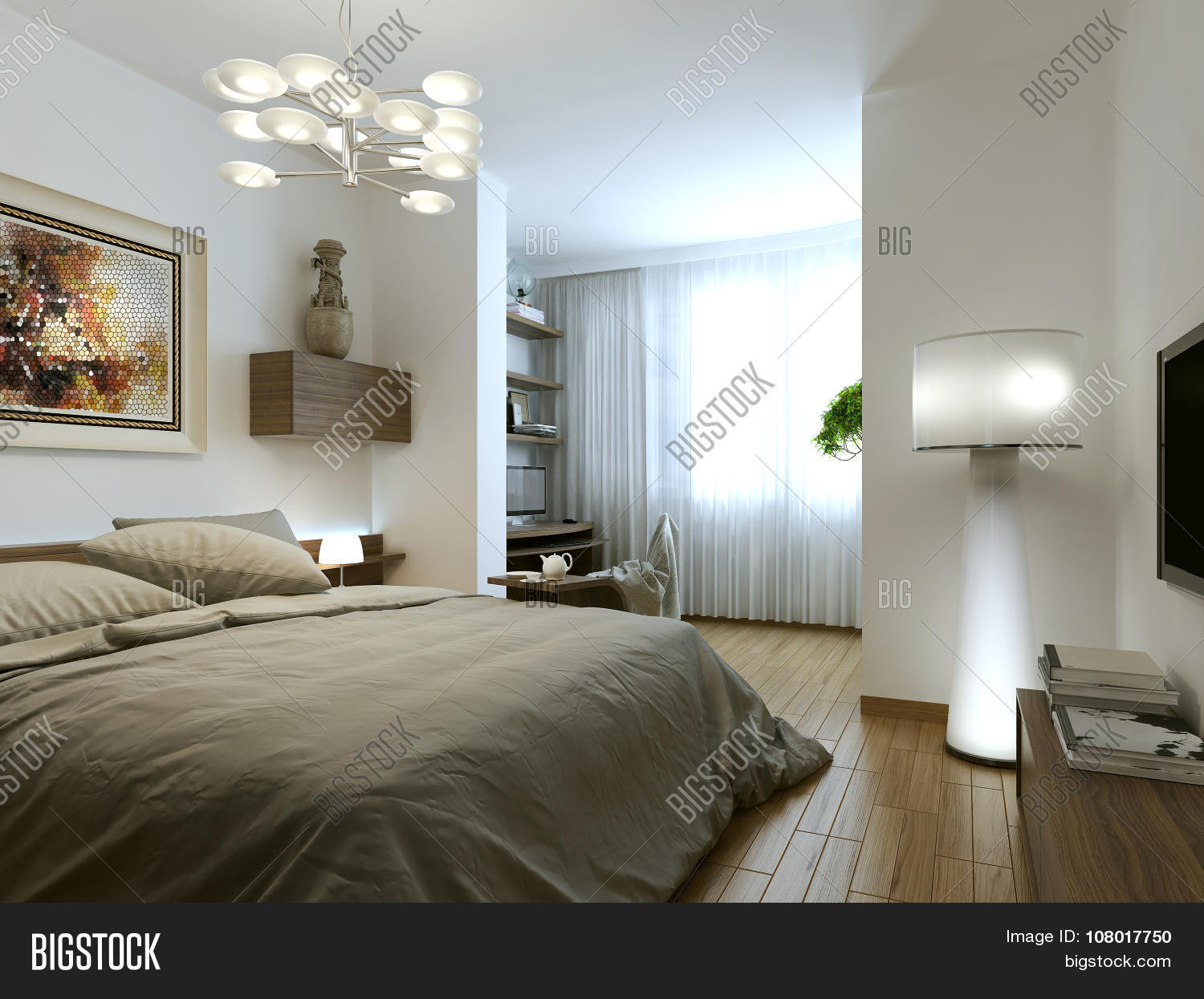 Bedroom minimalist interior image photo bigstock for Interior bedroom minimalist