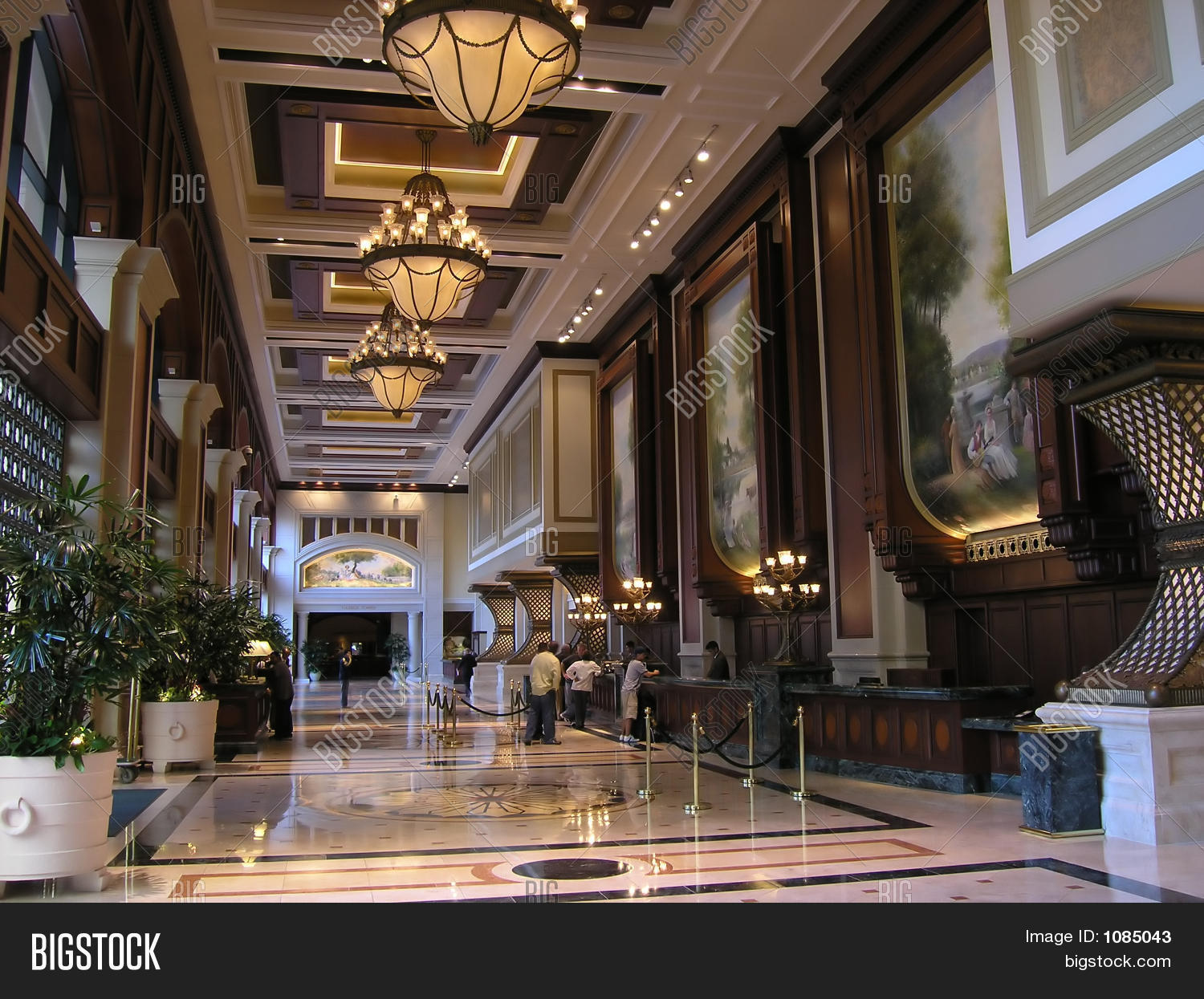 Luxury hotel lobby image photo bigstock for Nice hotel design