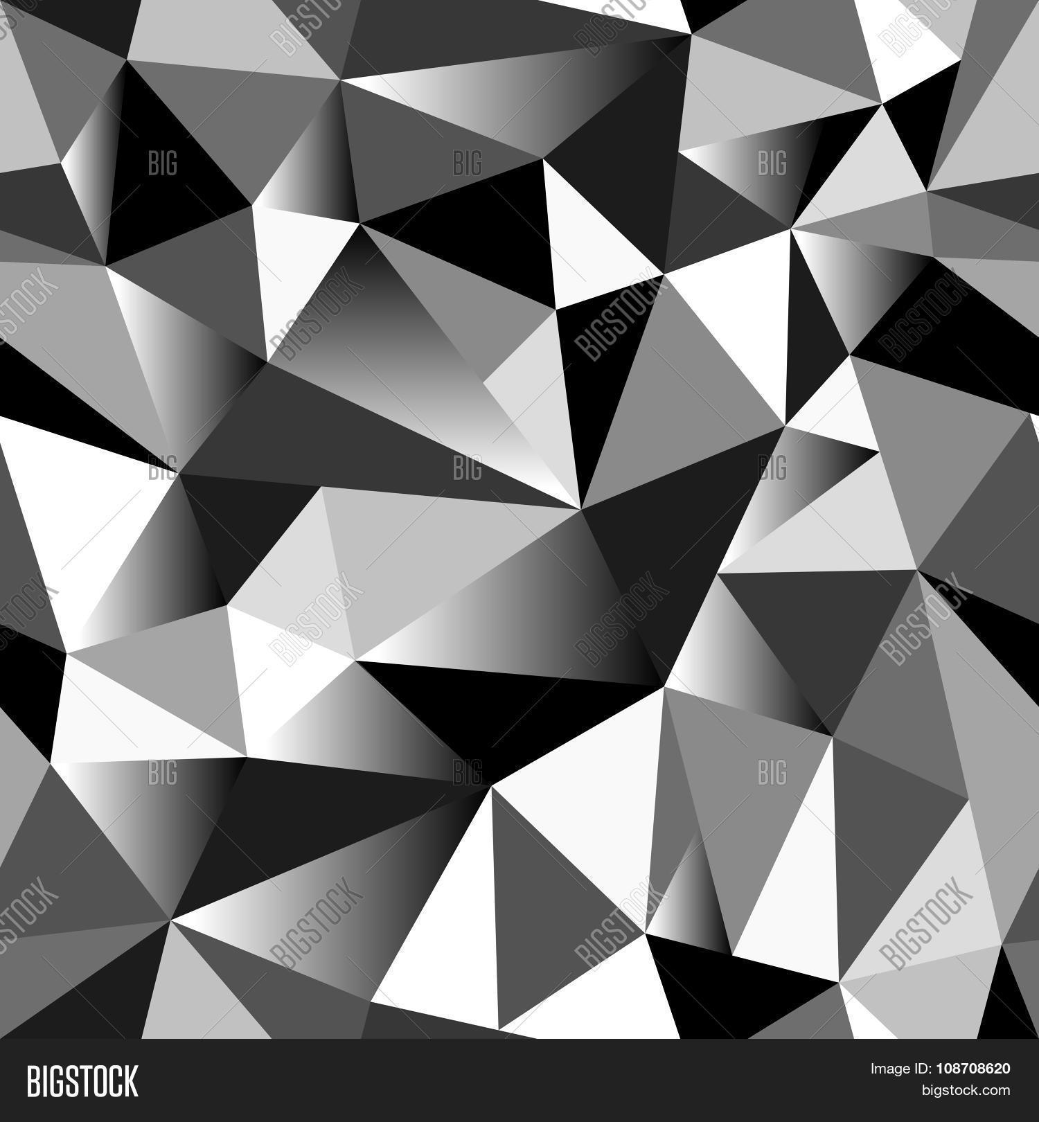 Background image grayscale - Abstract Grayscale Gradient Geometric Rumpled Triangular Seamless Low Poly Style Background