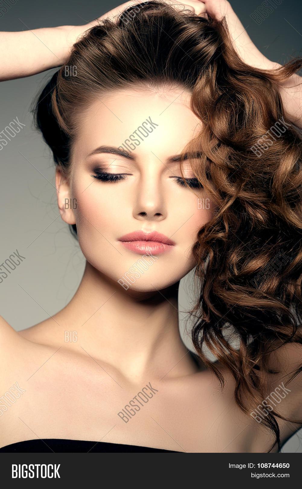Model Long Hair Waves Curls Image Photo Bigstock - Haircut girl model