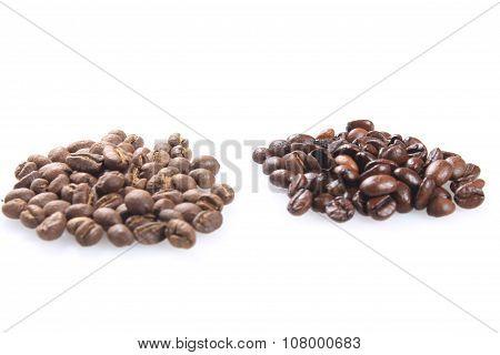 dark roasted coffee beans