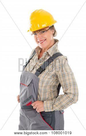 Happy Female Carpenter