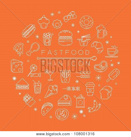 Set Of Fastfood Icons