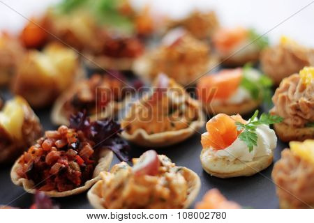 plated canape selection