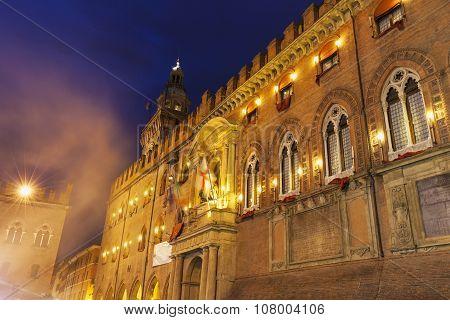 Architecture Of Piazza Maggiore In Bologna