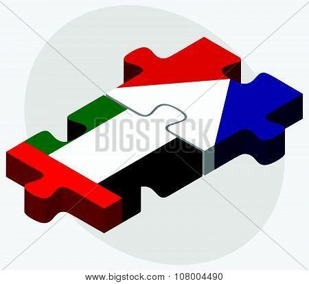 United Arab Emirates And Sint Maarten Flags