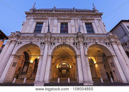 La Loggia (town Hall) In Brescia