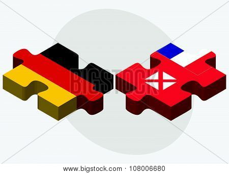 Germany And Wallis And Futuna Flags