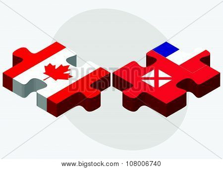 Canada And Wallis And Futuna Flags