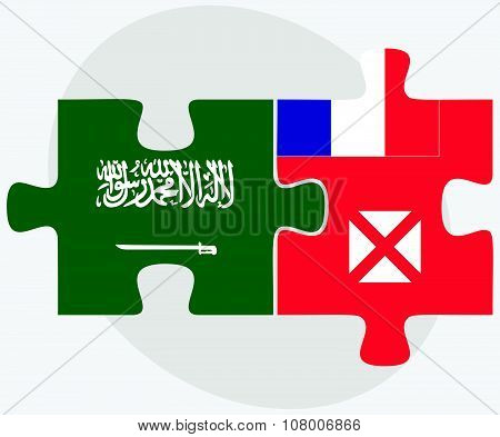 Saudi Arabia And Wallis And Futuna Flags