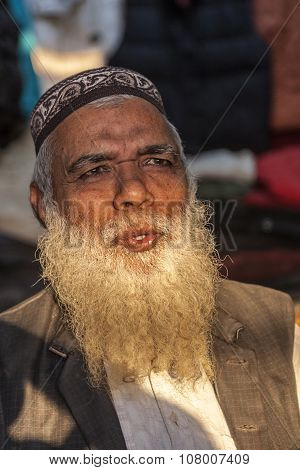 Portrait Of A Senior Indian Man