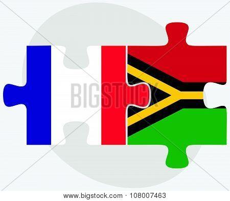 France And Vanuatu Flags