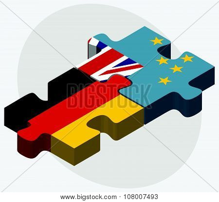 Germany And Tuvalu Flags