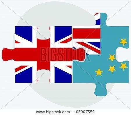 United Kingdom And Tuvalu Flags
