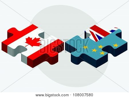 Canada And Tuvalu Flags