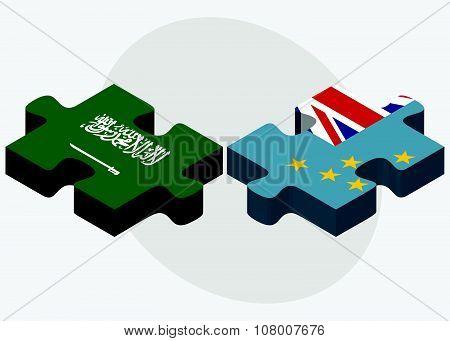 Saudi Arabia And Tuvalu Flags