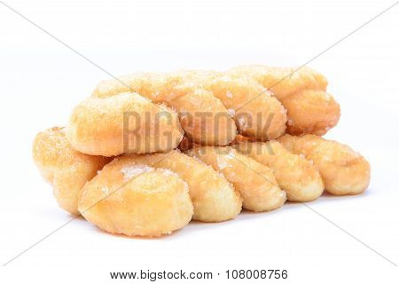 Breads Twists Donut, Isolated On White Background