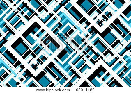 Trendy Blue Geometric Seamless Pattern