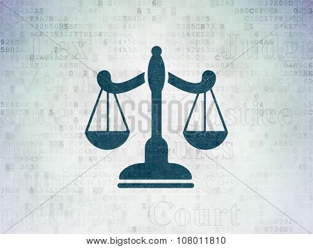 Law concept: Scales on Digital Paper background