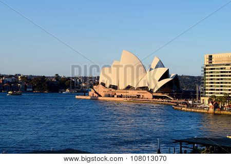 SYDNEY AUSTRALIA - AUG 2015: View of Sydney Opera House famous icon on August 2015 in Sydney Austral