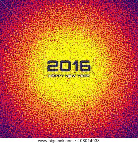 Bright Colorful New Year 2016 Celebration Background