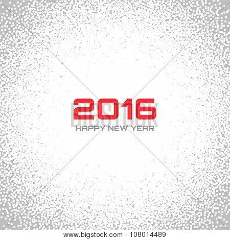 Gray - White Light New Year 2016 Snow Flake Background