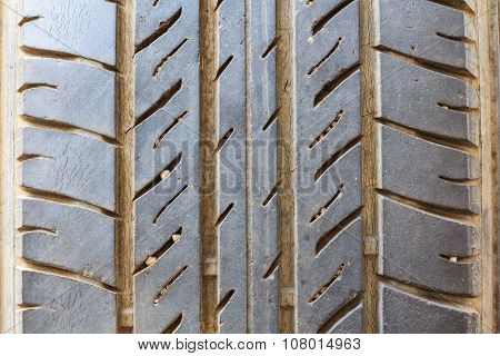 Close Up Of Car Tire To Background