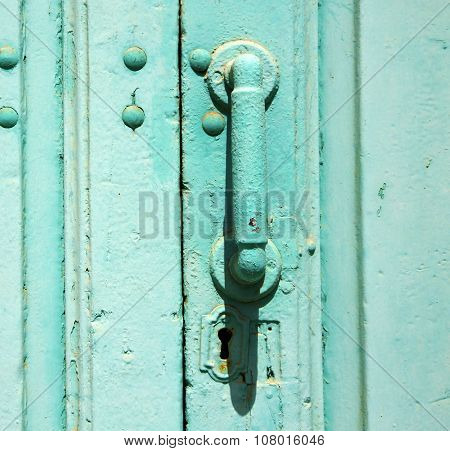 Spain Canarias Brass   Door  Lanzarote Abstract