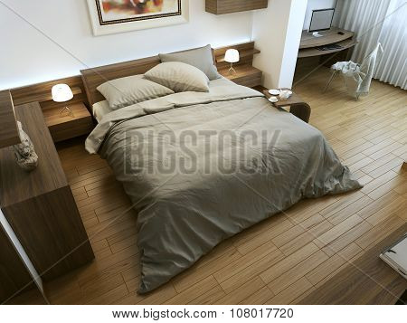 Bedroom In A Minimalist Style