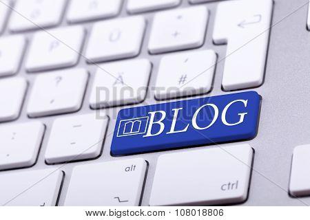 Aluminium Keyboard With Blog Word And Symbol