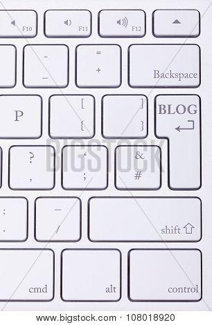 Blog Word Written On Standard Keyboard