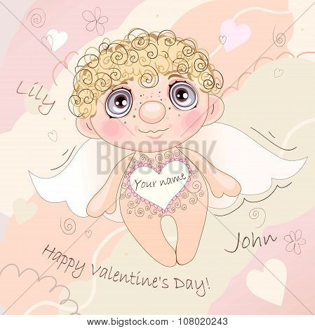 Named Angel Heart, card for Valentine's Day