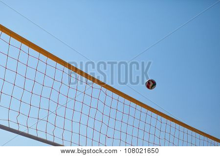 Volleyball Ball Over Net
