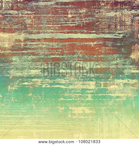 Rough grunge texture. With different color patterns: yellow (beige); brown; red (orange); green