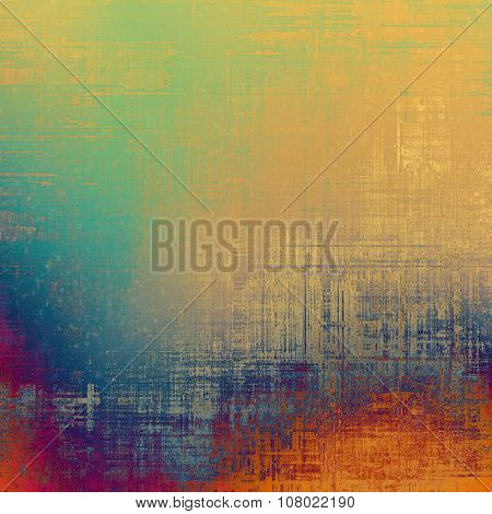 Cracks and stains on a vintage textured background. With different color patterns: yellow (beige); red (orange); blue; purple (violet)
