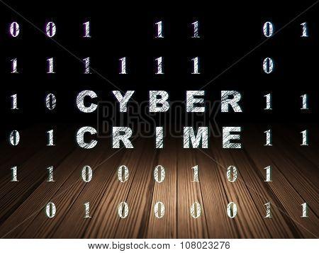 Safety concept: Cyber Crime in grunge dark room