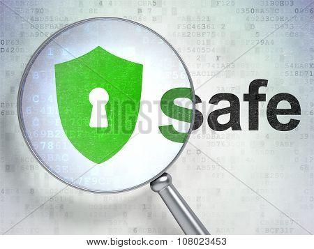 Safety concept: Shield With Keyhole and Safe with optical glass