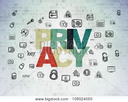 Privacy concept: Privacy on Digital Paper background