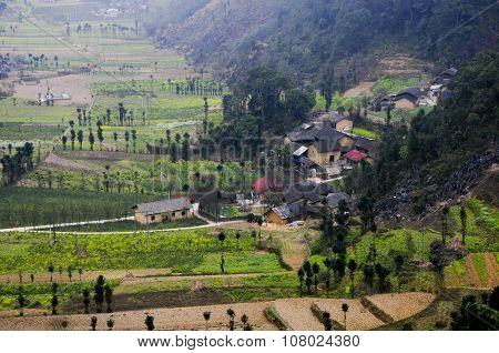 A village of ethnic minority people in Hagiang province, Vietnam