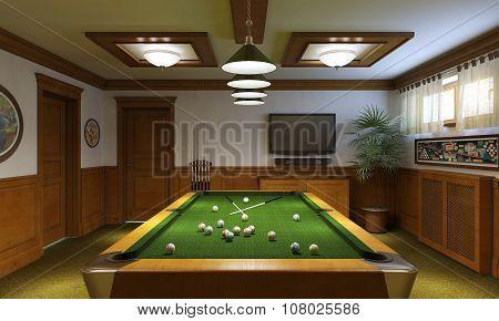 Billiard Room Classical Style