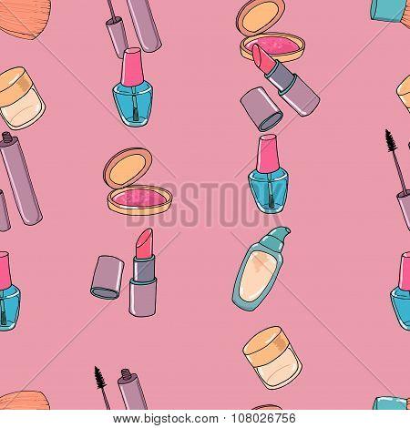 Makeup seamless pattern