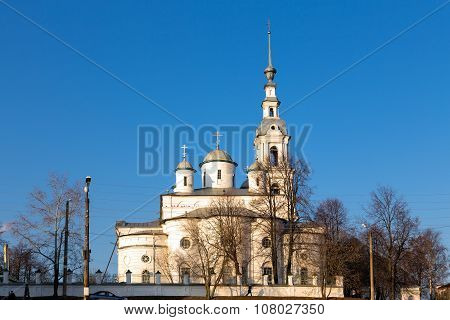 Assumption Cathedral And Belfry In Kineshma. Russia
