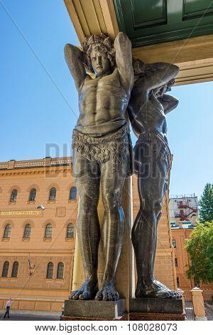 Granite Atlantes Figures