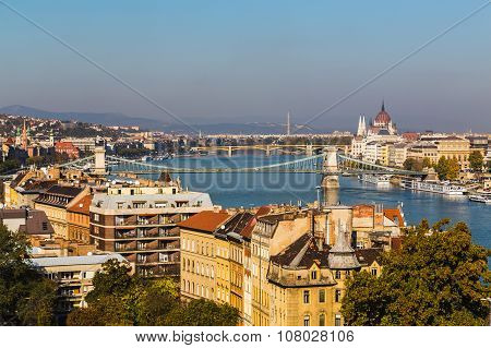 High View Of Buildings In Budapest During The Day